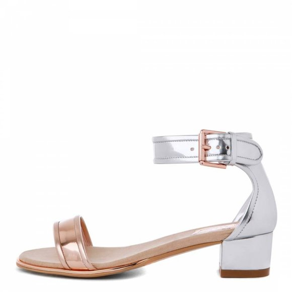 Ted Baker Ruz Two Piece Metallic Leather Sandals